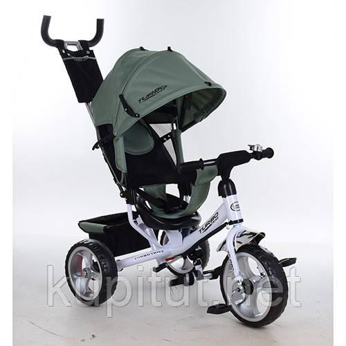 Трехколесный велосипед Turbo Trike M 3113-17, колеса EVA,хаки