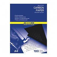 Бумага копировальная 210х297мм, 100 арк., черный