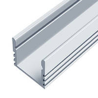 Профиль для LED ленты (2м) накладной мебельный (16х12мм) алюминий