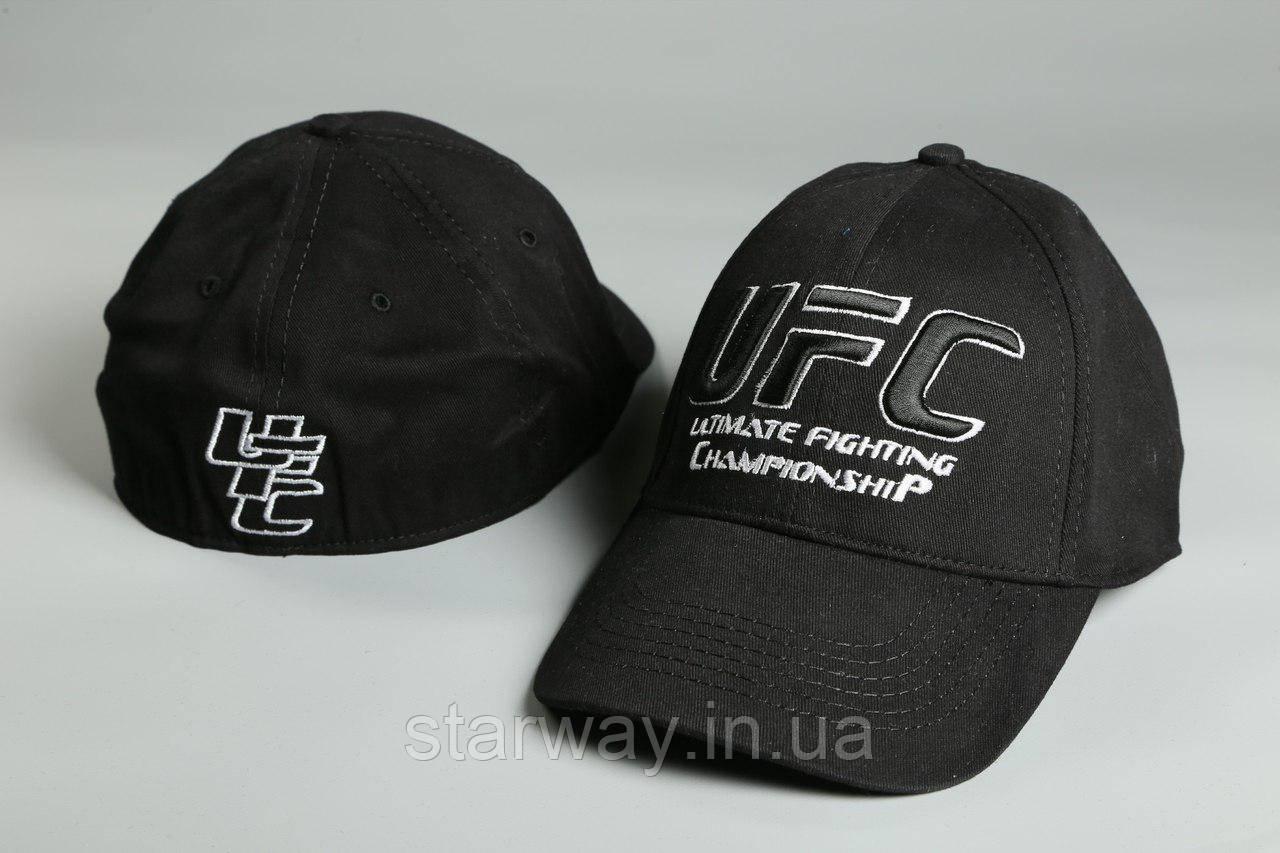 Кепка чёрная UFC логотип вышивка