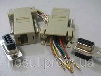 Адаптер удлинитель RS232 — RJ45 (1-50 м) через витую пару UDP ком порт последовательный null modem кабель прош