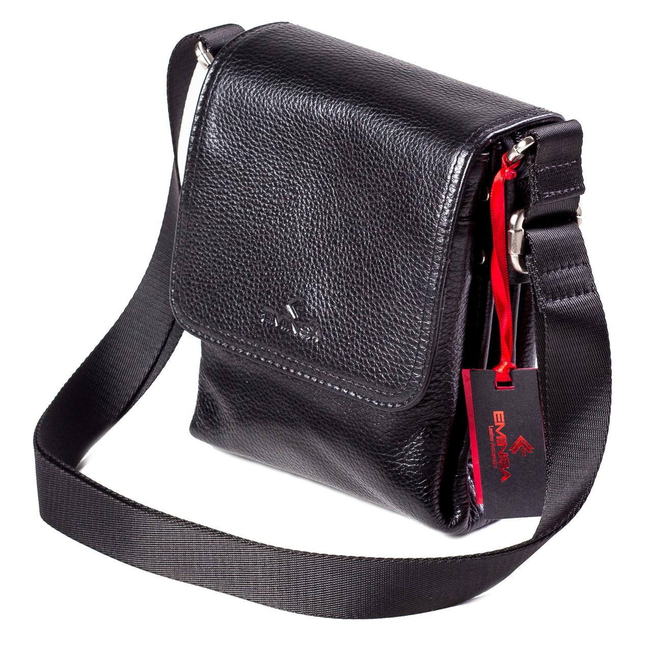 Мужская сумка кожаная черная Eminsa 6097-37-1