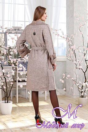 Женский демисезонный кардиган-пальто (р. 44-58) арт. 1114 Тон 34, фото 2