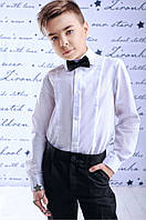 Классическая белая школьная рубашка; 128, 140, 146 размер, фото 1