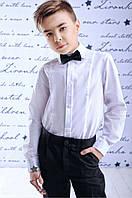 Классическая белая школьная рубашка; 128, 140, 146 размер