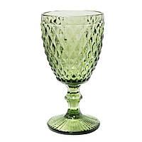 """Бокалы для вина ярко зеленые 6 шт, 250 мл """"Кедр"""" ( Набор бокалов )"""