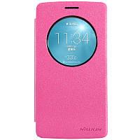 Кожаный чехол Nillkin Sparkle для LG G3s D724 розовый, фото 1