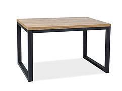 Деревянный стол Loras II дуб с черной опорой 150х90 (Signal)