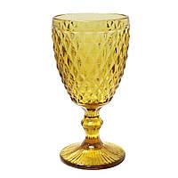 "Набор бокалов желтые 6 шт, 250 мл ""Кедр"" ( бокалы для вина )"