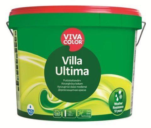 Полуматовая защитная краска для древесины Ультима (Ultima), VVA (белая), 2,7л