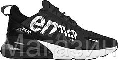 Мужские спортивные кроссовки Supreme Nike Air Max 270 Black Найк Аир Макс 270 черные