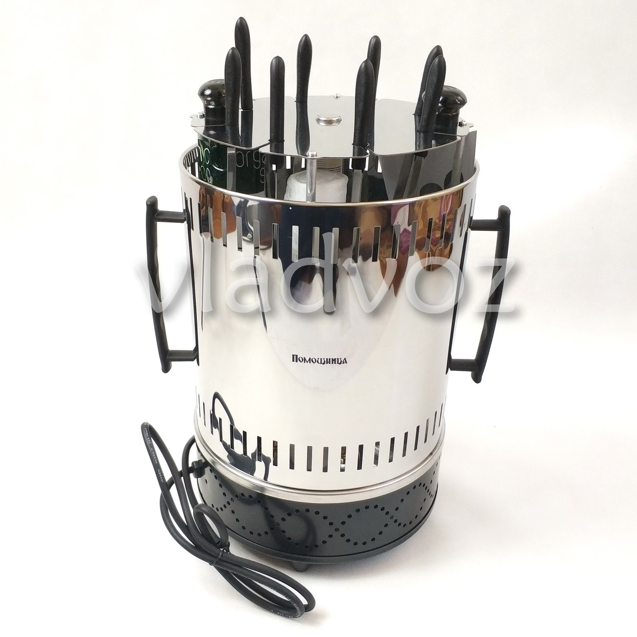 Электро шашлычница Помощница на 8 шампуров