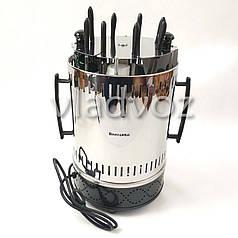 Электрошашлычница Помічниця шашличниця шашлик 8 шампурів з таймером