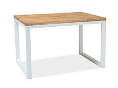 Деревянный стол Loras II дуб с белой опорой 150х90 (Signal)