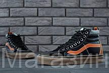 Мужские высокие кеды Vans Sk8-Hi Mid Ванс черные, фото 2