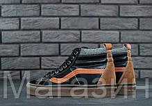 Мужские высокие кеды Vans Sk8-Hi Mid Ванс черные, фото 3