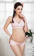Белье для кормящих и беременных мам, комплект белья бюстгальтер и трусики, фото 1