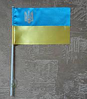 Флажок Украины | Прапорець України 10х15 см атлас