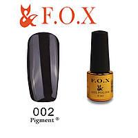 Гель-лак FOX № 002 (классический черный), 6мл