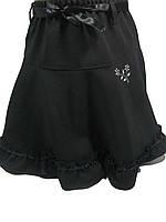 Юбка черная школьная для девочек, размеры 134-164( длина от 28 до 41 см), арт. 9040-2, фото 1