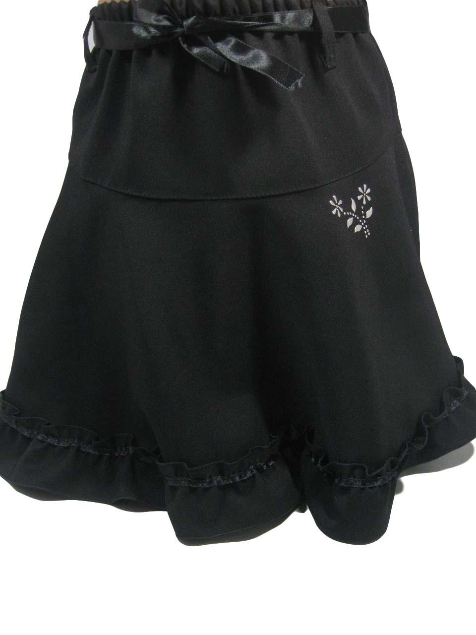 Юбка черная школьная для девочек, размеры 134-164( длина от 28 до 41 см), арт. 9040-2