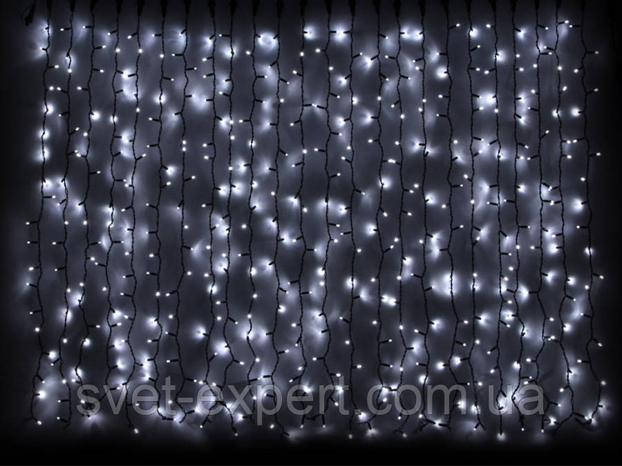 Гірлянда зовнішня DELUX CURTAIN 456LED  білий / чор