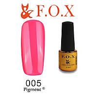 Гель-лак FOX № 005 (кислотный розовый), 6 мл