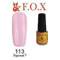 Гель-лак FOX № 113 (светлый розовый), 6 мл
