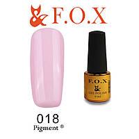 Гель-лак FOX № 018 (светлый розовый), 6 мл