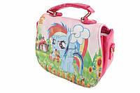 """Сумка детская """"My little pony"""" с ручкой и съемным ремешком белая, ширина: 17 см, высота: 14 см, кожзаменитель, на кнопке, 1 отделение, 1 карман,"""