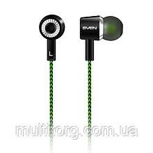 Наушники SVEN E-107 black-green вакуумные