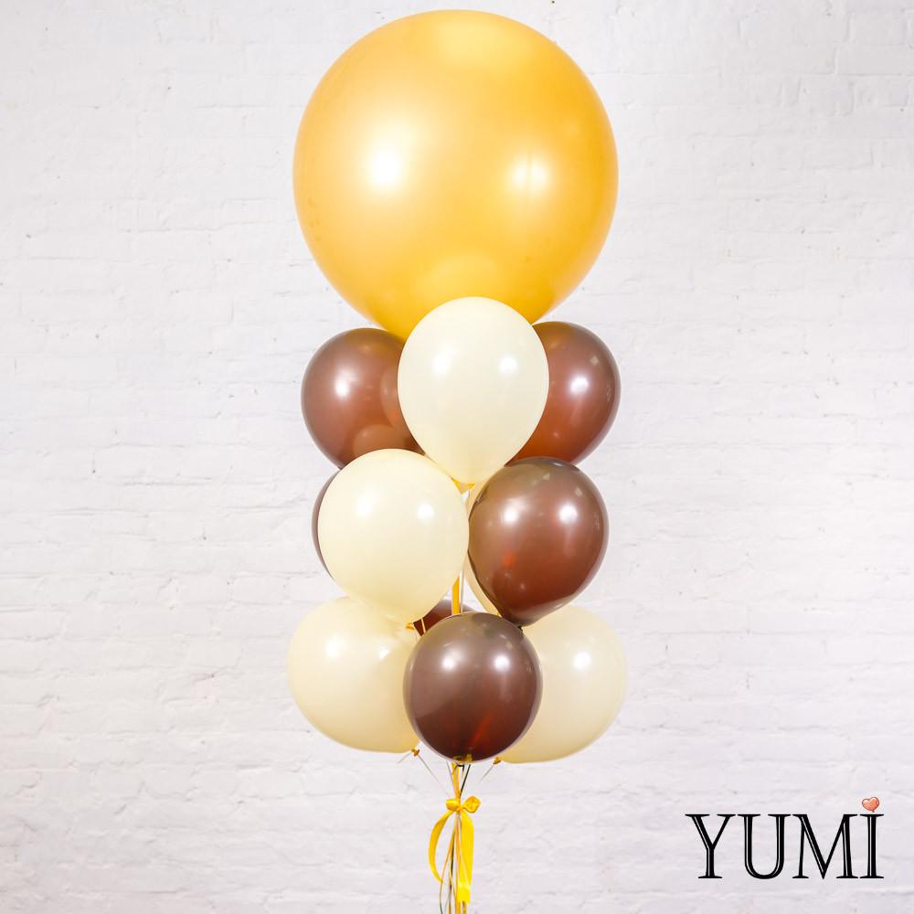 Связка из золотого гиганта, 6 коричневых и 6 айвори шаров