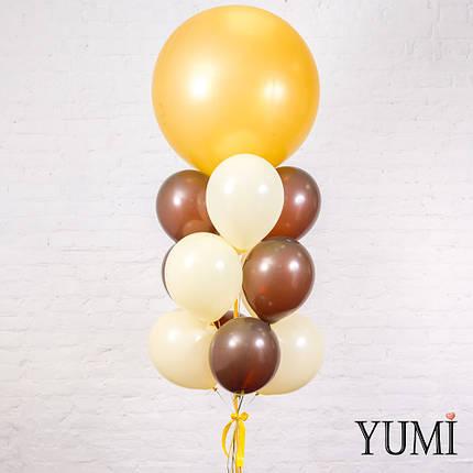 Связка из золотого гиганта, 6 коричневых и 6 айвори шаров, фото 2