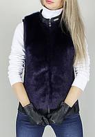 Женская стильная меховая жилетка