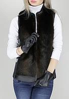 Женская стильная меховая жилетка искусственная норка