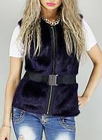 Женская исскуственная меховая жилетка