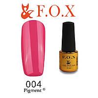 Гель-лак FOX № 004 (яркий малиновый), 6 мл