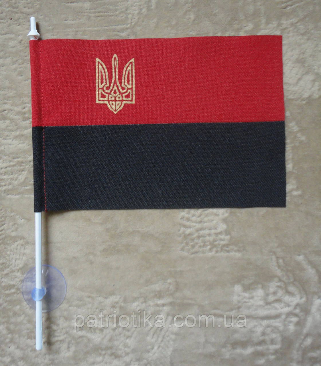 Флажок УПА | Прапорець УПА 10х15 см габардин