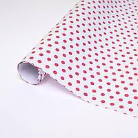 Ретро бумага красные и белые горохи, фото 1