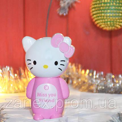 Лампа светодиодная мини настольная беспроводная  Hello Kitty, фото 2