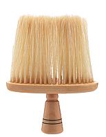 Сметка парикмахерская для сметания волос деревянная