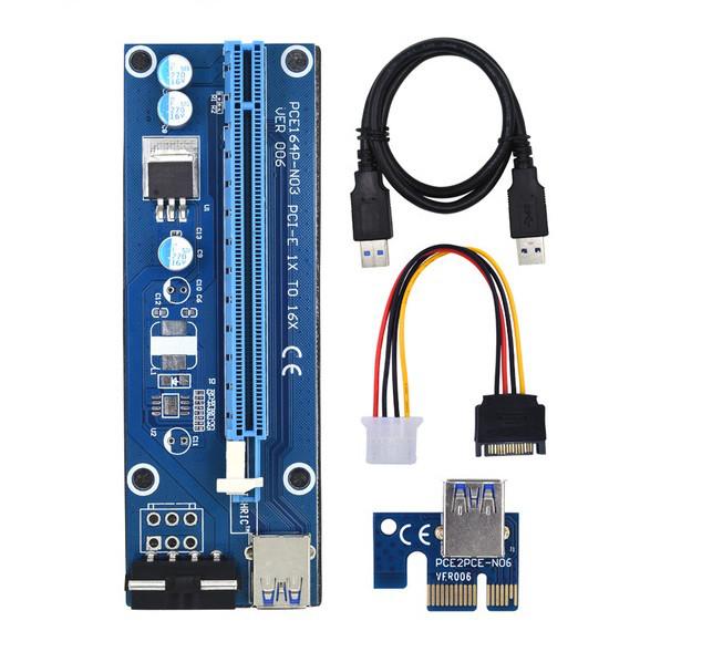 Адаптер Riser Card VER006C PCI-E extender 60см USB 3.0