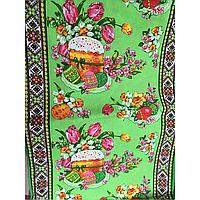 Льняное полотенце на Пасху в украинском стиле
