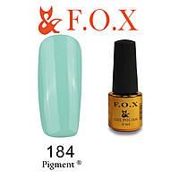 Гель-лак FOX № 184 (мятный, зеленый), 6 мл