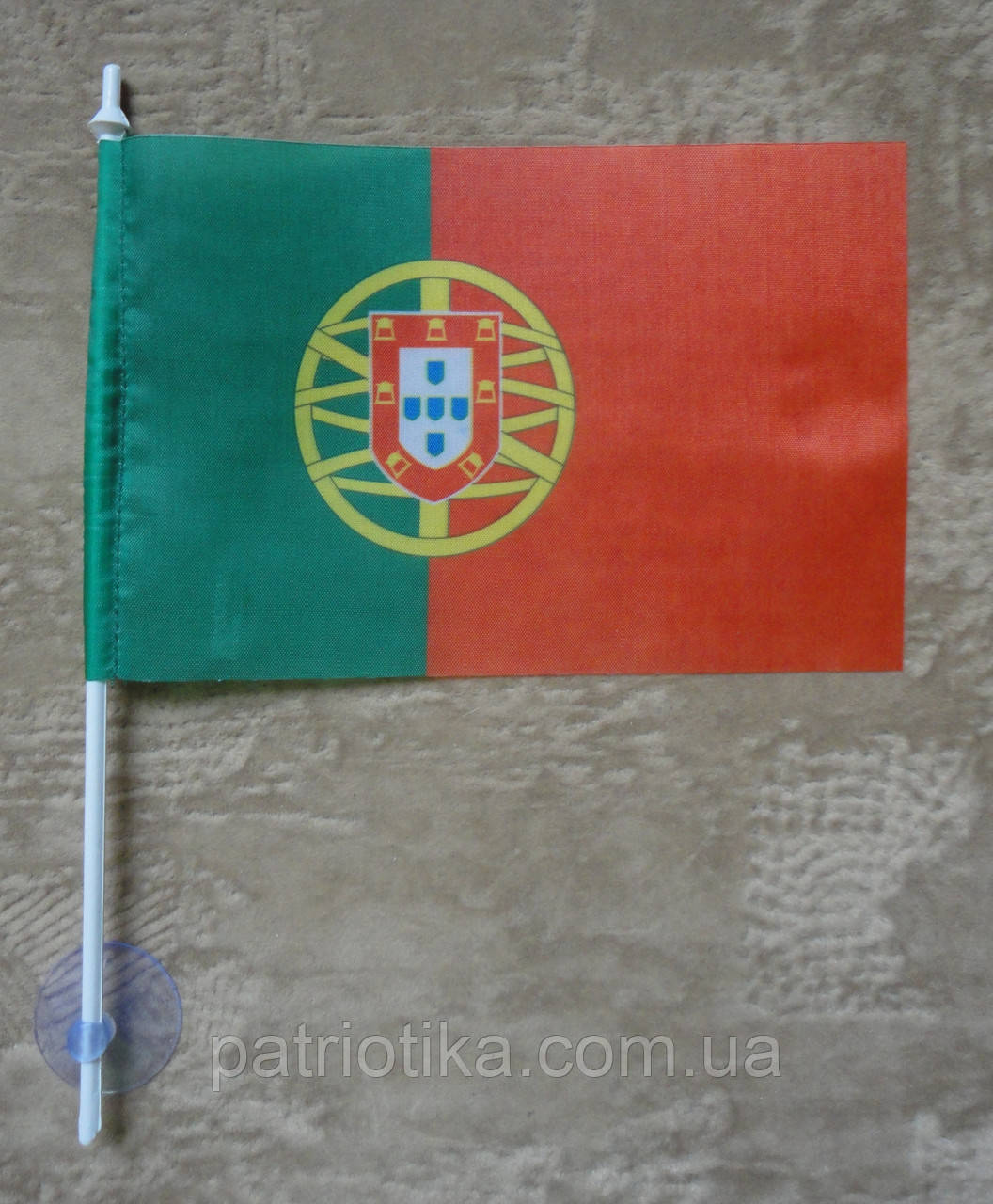 Флажок Португалии | Прапорець Португалії 10х15 см полиэстер