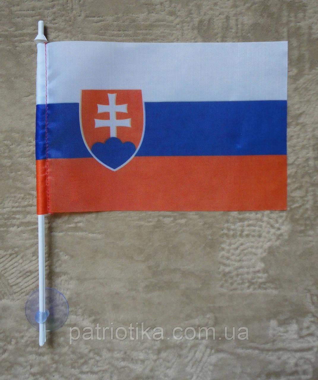 Флажок Словакии | Прапорець Словаччини 10х15 см полиэстер