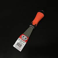 Шпатель малярний з нержавійки гумова ручка 40мм OLEJNIK, фото 1