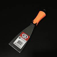 Шпатель малярний з нержавійки гумова ручка 60мм OLEJNIK, фото 1