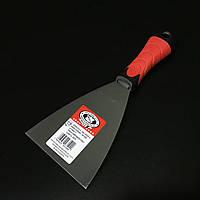 Шпатель малярний з нержавійки гумова ручка 100мм OLEJNIK, фото 1