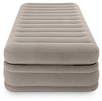 Односпальная надувная кровать Intex + встроенный электронасос 220V 99x191x51 см (64444)